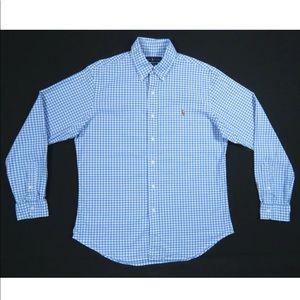 Polo Ralph Lauren Gingham Button Front Shirt L